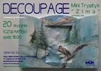"""Decoupage """"Mini Tryptyk zima"""" – cykl 4 pory roku"""