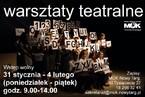 Bezpłatne warsztaty teatralne dla Młodzieży w MOK Nowy Targ