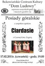 "Posiady góralskie z zespołem ""Ciardasie"""