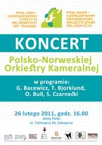 Koncert Polsko-Norweskiej Orkiestry Kameralnej w Jasnym Pałacu