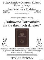 """""""Bukowina Tatrzańska na tle dawnych dziejów"""""""