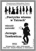 """""""Poetycka wiosna w Tatrach"""" - wieczór autorski Jerzego Tawłowicza"""