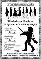 """""""Mały żołnierz wielkiej wojny"""" - wg Władysławy Nowickiej"""