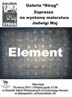 """Wystawa malarstwa Jadwigi Maj """"Element"""""""