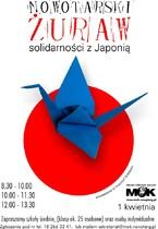 Nowotarski żuraw solidarności z Japonią