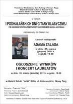Koncert Adama Zalasa