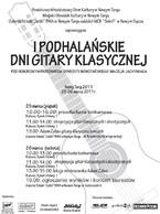 I Podhalańskie Dni Gitary Klasycznej