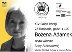 XIV Salon Poezji – Bożena Adamek