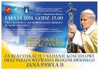 """Beatyfikacja Jana Pawła II - Uroczystości w parafii """"Na Równi Szaflarskiej"""""""