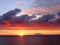 Zachód słońca na Korsyce na fotografii Agnieszki Tomasini