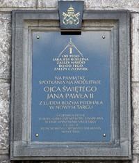 Poświęcenie tablicy pamiątkowej błogosławionego Ojca Św. Jana Pawła II