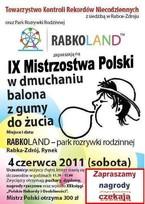 IX Mistrzostwa Polski w Dmuchaniu Balona z Gumy do Żucia