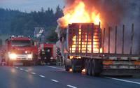 Pożar samochodu na zakopiance