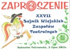 XXVII Sejmik Wiejskich Zespołów Teatralnych