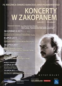 Letnie Koncerty w Zakopanem w 70. rocznicę śmierci Ignacego Jana Paderewskiego