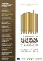 XI Międzynarodowy Festiwal Organowy w Zakopanem