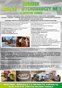 Specjalny Ośrodek Szkolno-Wychowawczy Nr 1 w Nowym Targu poszerza ofertę