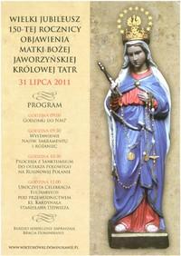 Matka Boska Jaworzyńska Królowa Tatr zaprasza nas na Wiktorówki