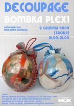 Decoupage - bombka plexi