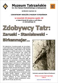 Plakat spotkania, proj. Andrzej Samardak