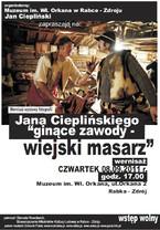 """Wystawa fotografii Jana Cieplińskiego """"Ginące zawody - wiejski masarz"""""""