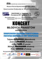 Koncert Młodych Pianistów
