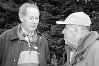 Adam Chyżewski (po lewej) z Józefem Krzeptowskim