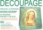 Decoupage – MIesiąc z ikonami – Ikona Scarp