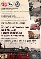 Rozwój szybownictwa na Podhalu i ziemi sądeckiej w latach 1923-1939