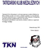 Tatrzański Klub Niezależnych zaprasza na Zabawę Mikołajową