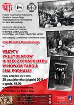Wizyty prezydentów II Rzeczypospolitej w Nowym Targu i na Podhalu