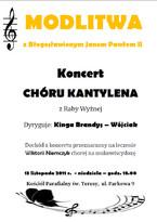 Modlitwa z Błogosławionym Janem Pawłem II - Koncert Chóru Kantylena