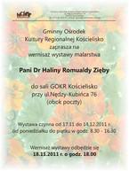 Wystawa malarstwa dr Haliny Romualdy Zięby z Kościeliska