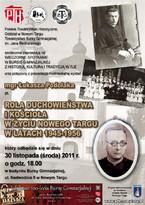 Rola duchowieństwa i kościoła w życiu Nowego Targu w latach 1945-1956