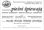 Koncert urodzinowy Henryka Mikołaja Góreckiego
