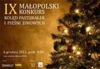 IX Małopolski Konkurs Kolęd Pastorałek i Pieśni Zimowych