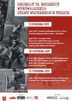 30-lecie wprowadzenia stanu wojennego w Polsce. Obchody w Nowym Targu