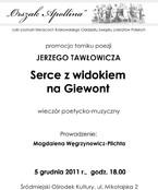 Promocja tomiku poezji Jerzego Tawłowicza