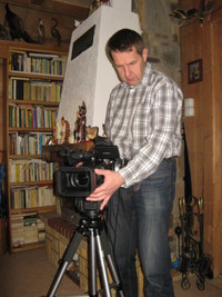 Na zdjęciu reżyser filmu Mirosław Krzyszkowski