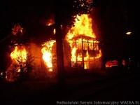 Pożar przy ul. Jagiellońskiej