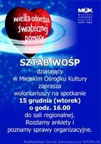 Spotkanie organizacyjne WOŚP