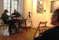 Kuba Szpilka czyta swój referat, fot. Wojciech Szatkowski