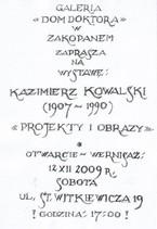 """""""Kazimierz Kowalski - projekty i obrazy"""""""
