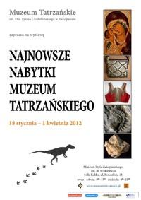 Najnowsze nabytki Muzeum Tatrzańskiego