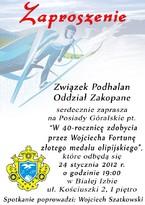 Posiady Góralskie w 40-tą rocznicę zdobycia przez Wojciecha Fortunę złotego medalu olimpijskiego