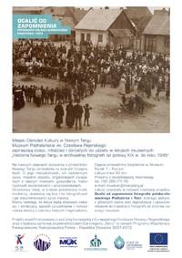 Lekcje Muzealne - Historia Nowego Targu w archiwalnej fotografii