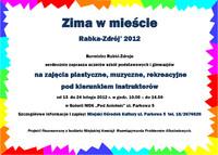 Ferie zimowe Rabka-Zdrój 2012