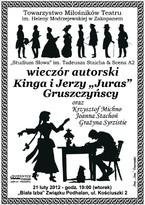 """Wieczór autorski Kingi i Jerzego """"Jurasa"""" Gruszczyńskich"""