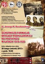 Ochotnicze formacje Brygady Podhalańskiej na Podtatrzu w latach 1919-1920