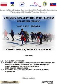 """Integracyjny bieg narciarski """"Szlak bez Granic: Witów - Oravice"""""""